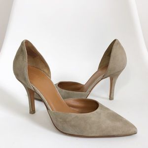 VINCE Taupe Dor'say Suede Celeste Pumps Point Toe